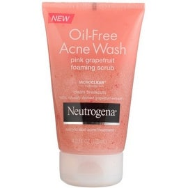 Neutrogena Oil-Free Acne Wash Foaming Scrub, Pink Grapefruit 4.2 oz
