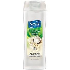 Suave Naturals Moisturizing Body Wash, Creamy Tropical Coconut 12 oz
