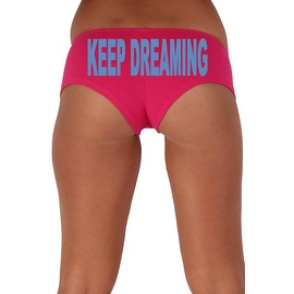 Women's Sexy Hot Booty Boy Shorts Keep Dreaming Block Blue Bold Style Type Lingerie