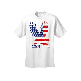 Men's T-Shirt USA Flag American Bald Eagle Stars & Stripes Old Glory Pride Patriotic