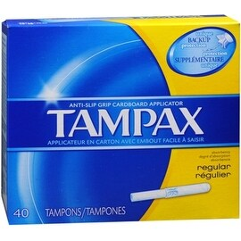 Tampax Tampons with Cardboard Applicator, Regular 40 ea