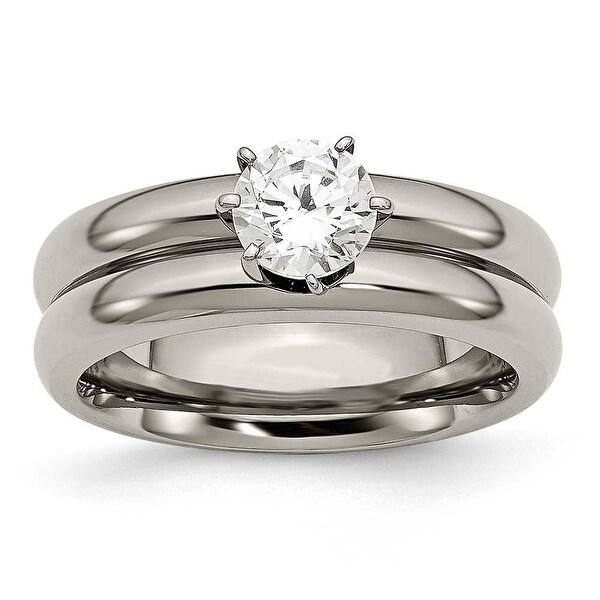Titanium CZ Ring (8 mm)