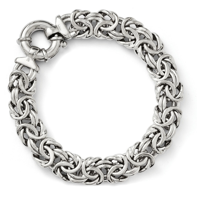 Italian Sterling Silver Fancy Link Bracelet - 7.5 inches