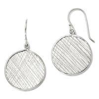 Italian Sterling Silver Polished & Textured Dangle Earrings
