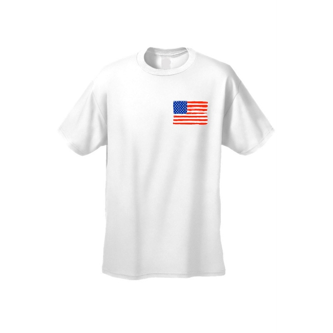 USA Flag Men's T Shirt Pocket Painted American Pride Stars & Stripes Old Glory