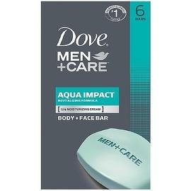Dove Men + Care 4-ounce Body & Face Bar Aqua Impact (6 Bars Each)