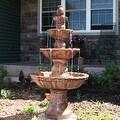 Sunnydaze 4-Tier Pineapple Fountain, 52 Inch Tall - Thumbnail 6