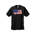 Men's USA Flag T Shirt 3D Patriotic Pride Stars & Stripes American Old Glory Tee - Thumbnail 5