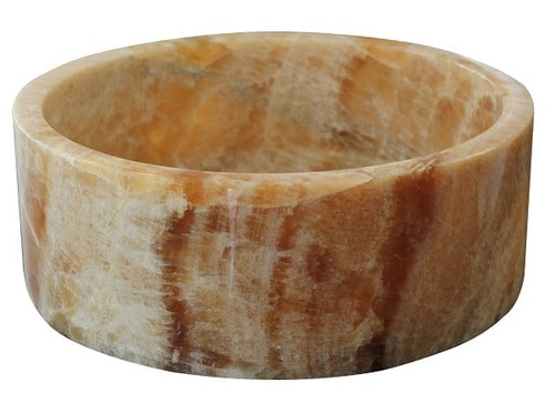 Cylindrical Natural Stone Vessel Sink - Honey Onyx