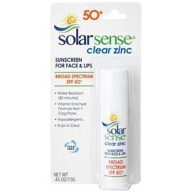 Solar Sense 0.45-ounce Clear Zinc Advanced Sunscreen Stick For Face & Lips SPF 50