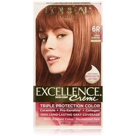 L'Oreal Paris Excellence Creme Triple Protection Hair Color Light Auburn (Warmer) [6R]