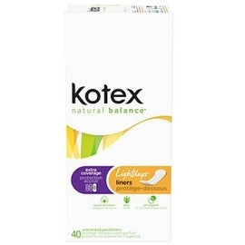 Kotex Lightdays Pantiliners Odor Absorbing Extra Coverage 40 Each