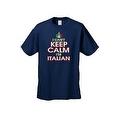 MEN'S FUNNY T-SHIRT I Can't Keep Calm I'm Italian STRESS HUMOR ITALY S-5XL TEE - Thumbnail 7