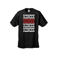 Men's T-Shirt Red & White Redneck Southern Dixie Pride Hillbilly Graphic Tee - Thumbnail 3
