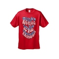 Men's Patriotic T-Shirt Peace Love Freedom Stars & Stripes Patriotic Vet Hippie Tee - Thumbnail 7