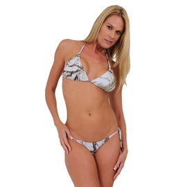 Women's White Camo True Timber 2-Piece Bikini Swimwear Swimsuit Beach Camouflage