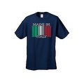 Men's Funny T-Shirt Made In Italy Humor Italian Pride Barcode Flag Jersey Shores - Thumbnail 8
