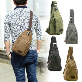 Vintage Canvas Satchel School Military Men's Hiking Shoulder Bag Messenger Bag
