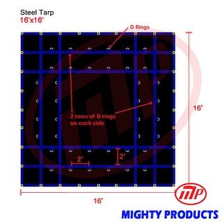 Xtarps - 16' x 16'  Truck Tarp - Steel Tarp - Heavy Duty, Industrial Grade