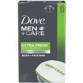 Dove Men+Care Body & Face Bars Extra Fresh 4.25-ounce (6 Bars Each)