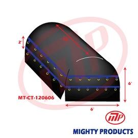 Xtarps - 12' x 6' X 6' Flatbed Truck Tarp - Light Weight Coil Tarp