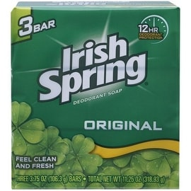Irish Spring 3.75-ounce Deodorant Bar Soap Original (3 Bar Pack)