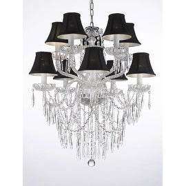 Plug In Empress Crystal Icicle Waterfall Dining Room Chandelier Lighting