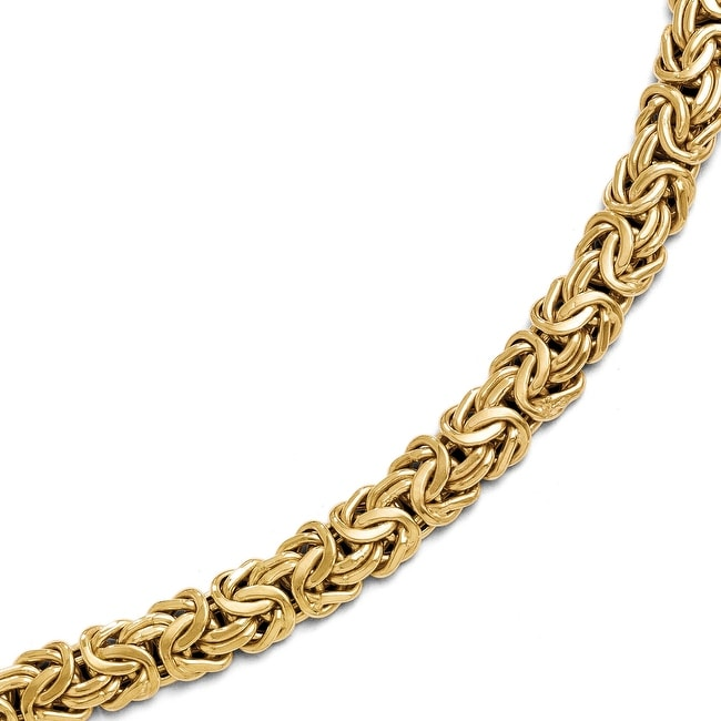 Italian 14k Gold Polished Fancy Link Bracelet - 7.5 inches