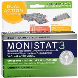MONISTAT 3 Combination Pack Disposable Applicators 3 Each