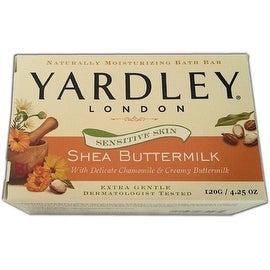 Yardley London Sensitive Skin Shea 4.25-ounce Buttermilk Bar Soap