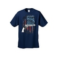 Men's T-Shirt USA Flag This Is My Gun Permit 2nd Amendment United States Tee - Thumbnail 7