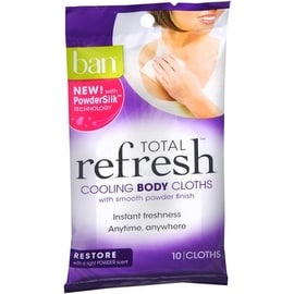 Ban Total Refresh Cooling Body Cloths, Restore 10 ea