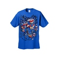 Men's T-Shirt USA Flag Skulls In Chains Stars & Stripes Pride American Graphic Tee - Thumbnail 12
