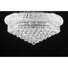 Flush Empire Crystal Chandelier With 15 Lights