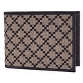 Gucci Men's 143384 Black & Beige Jacquard Diamante Bifold Coin Wallet - black|beige - Thumbnail 7