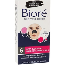 Biore Deep Cleansing Pore Strips, Charcoal 6 ea