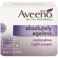 AVEENO Active Naturals Absolutely Ageless Restorative Night Cream, Blackberry 1.7 oz