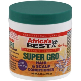 Africa's Best Super Gro Hair & Scalp Conditioner, Maximum Strength, 5.25 oz