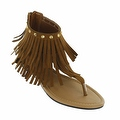 Red Circle Footwear Women's 'Antigua' Fringe Sandal - Thumbnail 2