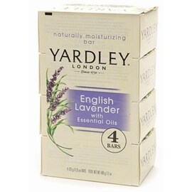 Yardley London Moisturizing Bars English Lavender with Essential Oils 4 Each