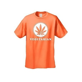 MEN'S FUNNY T-SHIRT Healthy Life Style 'Vegetarian' MARIJANA SMOKING POT WEED