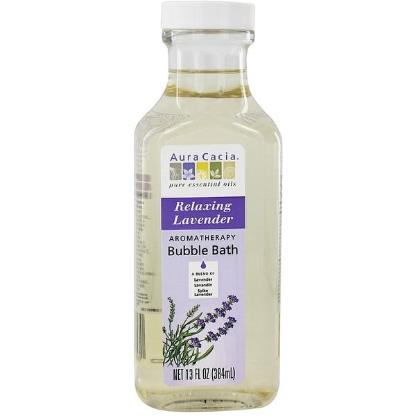 Aura Cacia Aromatherapy Bubble Bath, Relaxing Lavender 13 oz