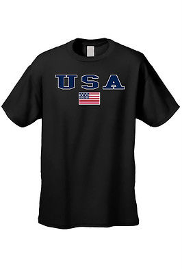MEN'S T-SHIRT USA AMERICAN FLAG TEE PATRIOTIC STARS STRIPES RED WHITE BLUE S-5XL