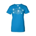 Women's Juniors T-Shirt Rhinestones Live To Ride Skull & Angel Wings Biker Tee - Thumbnail 4