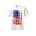 Men's T-Shirt USA Flag Keep Calm & Stay Strong Stars & Stripes America Patriotic - Thumbnail 6