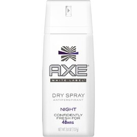 Axe White Label Antiperspirant Dry Spray, Night 3.8 oz