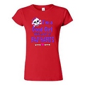 JUNIORS FUNNY T-SHIRT I'm a Good Girl with a Lot of Bad Habits SKULL BOW TEE - Thumbnail 1