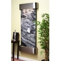 Adagio Inspiration Falls Fountain w/ Black Spider Marble in Stainless Steel Fini - Thumbnail 8