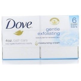 Dove Gentle Exfoliating 4-ounce Beauty Bars (6 Each)