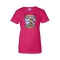 Women's Juniors T-Shirt Amor Inmortal Para Siempre Sugar Skull Katrina Death - Thumbnail 3